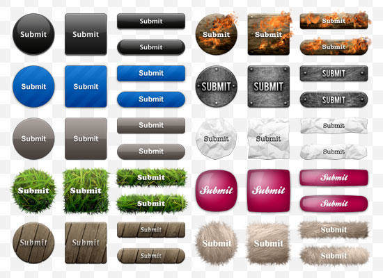 10 Sets Of Buttons 10 Sets Of Buttons Buttons Psd