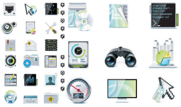 free vector Server Theme Icon Vector Material Server
