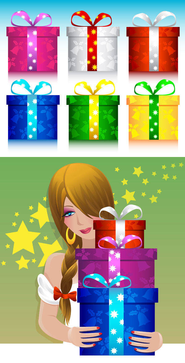 free vector Gift Vector Material Gift Vector