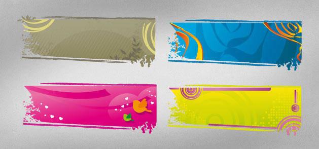 Rectangular Banner Vectors