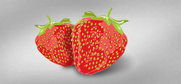 free vector Delicious Strawberries