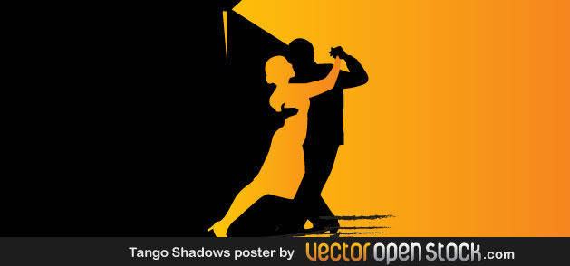 Beutiful Vector of Couple Dancing Tango