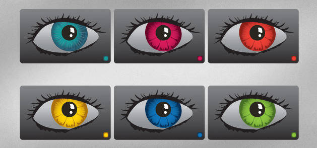 free vector Colourful Vector Eyes