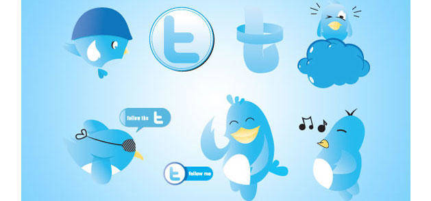 free vector Funny Twitter Icons