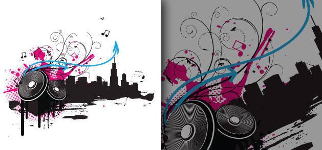 free vector Music Speakers