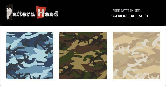 Seamless Vector Patterns Camouflage Set 1