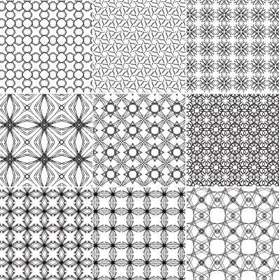 free vector 10 Seamless Vector Patterns