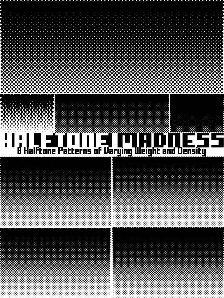 free vector Halftone Madness