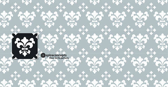 free vector Seamless grey floral wallpaper