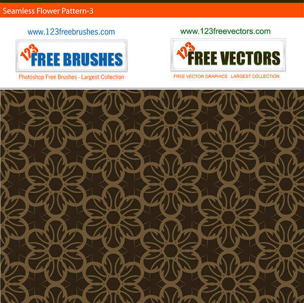 Free seamless brown flower pattern
