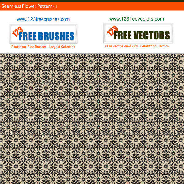 free vector Free seamless grey flower pattern