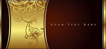 free vector Gorgeous golden patterns