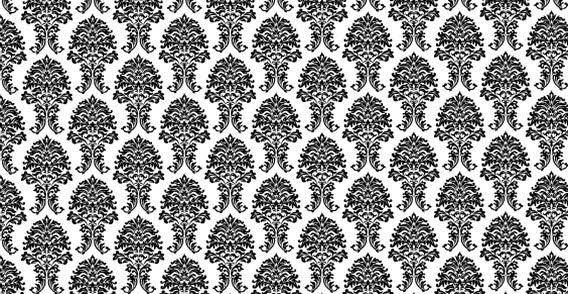 Floral vector pattern wallpaper