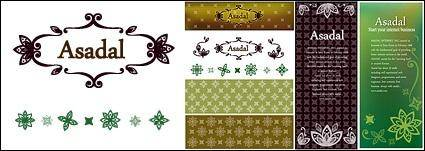 free vector Practical and lace patterns