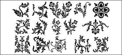 free vector Sections of lace pattern vector material