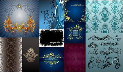 free vector Exquisite fashion pattern vector material package-3