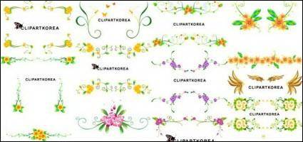 free vector Vector flowers and lace pattern