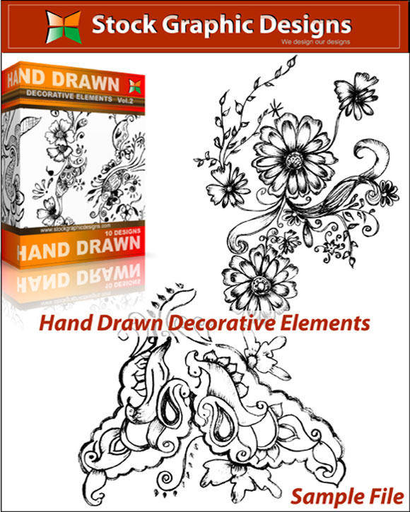 free vector Hand Drawn Decorative Elements