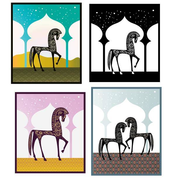 free vector One Thousand Nights Vector Freebie