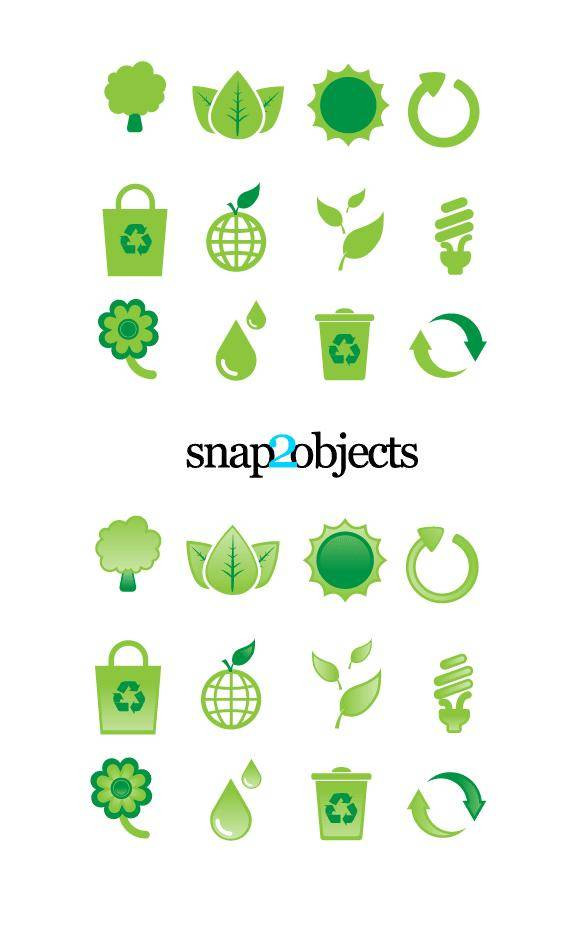 free vector Free Ecological Vector Design Elements