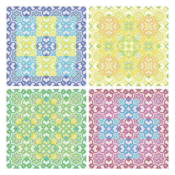 free vector Colored Pattern Background Vector