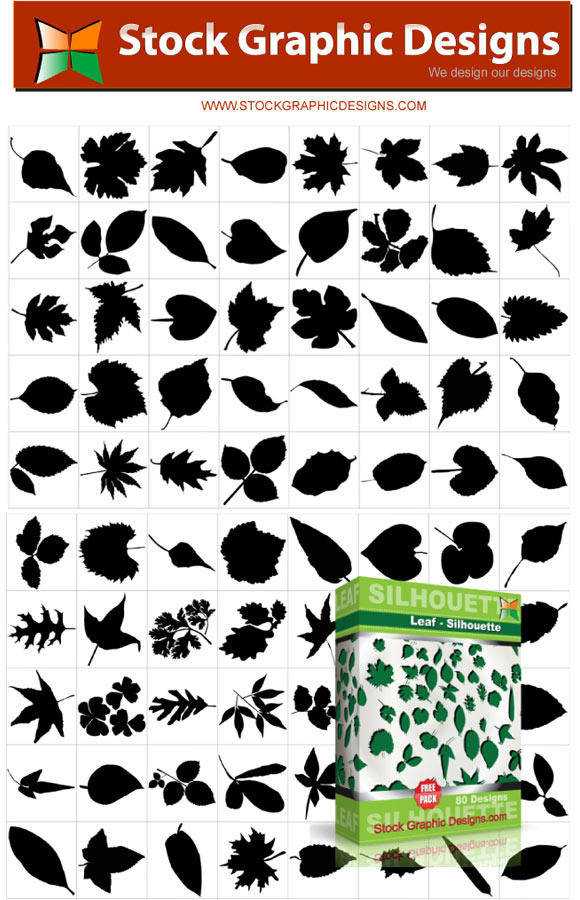 free vector Leaf Silhouettes