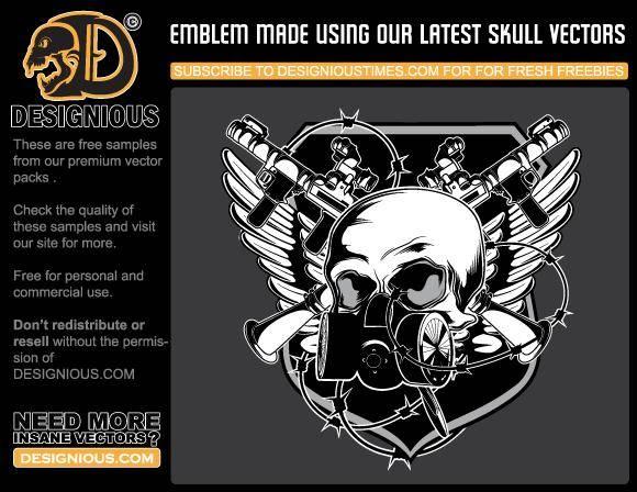 free vector Skull emblem