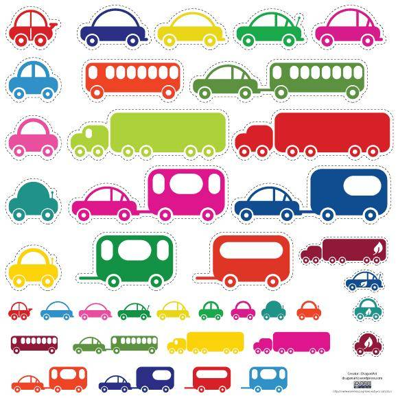 free vector Toy Cars and Bus Vector
