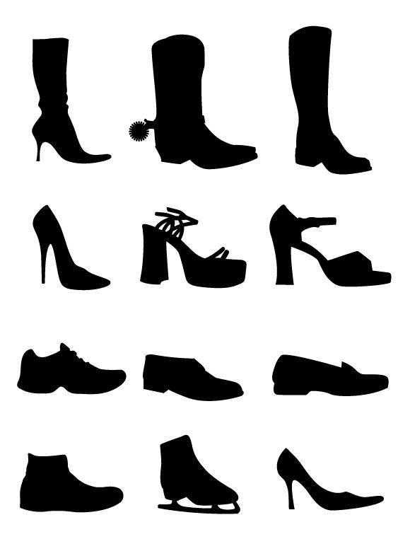free vector Shoe Vectors Silhouettes