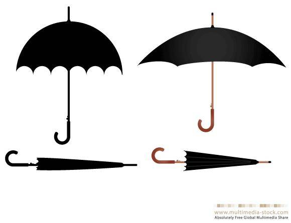 free vector Umbrella vector set