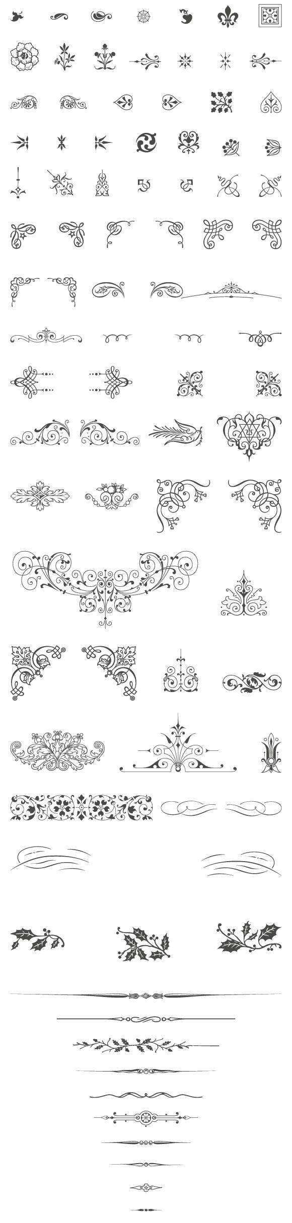 free vector 85 Free Vintage Vector ornaments