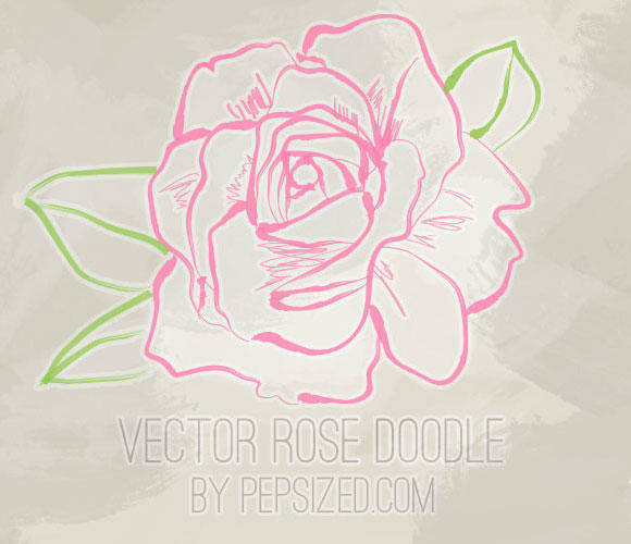 free vector Vector Rose Doodle