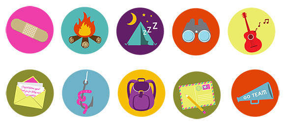 free vector Brand Camp Badges