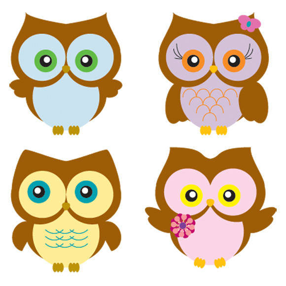 free vector Four Owls