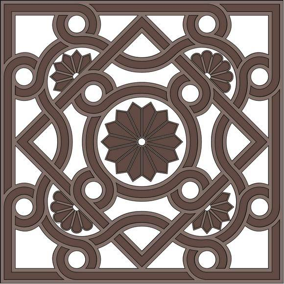 free vector Byzantine architectural ornament