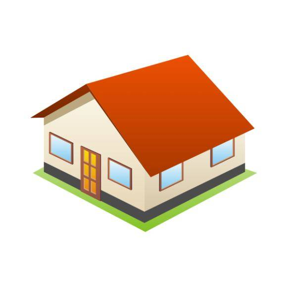 free vector 3D House Icon