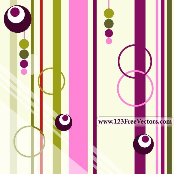 free vector Colorful Retro Background Vector