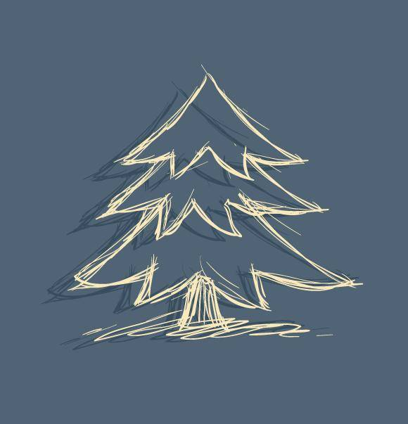 free vector Doodle Christmas Tree