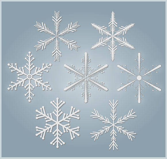 free vector Snowflakes Free Vector