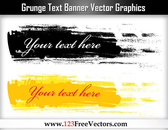 free vector Free Grunge Text Banner Vector Graphics