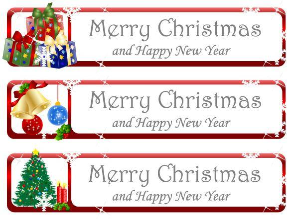 free vector Christmas Greeting Banner Vector