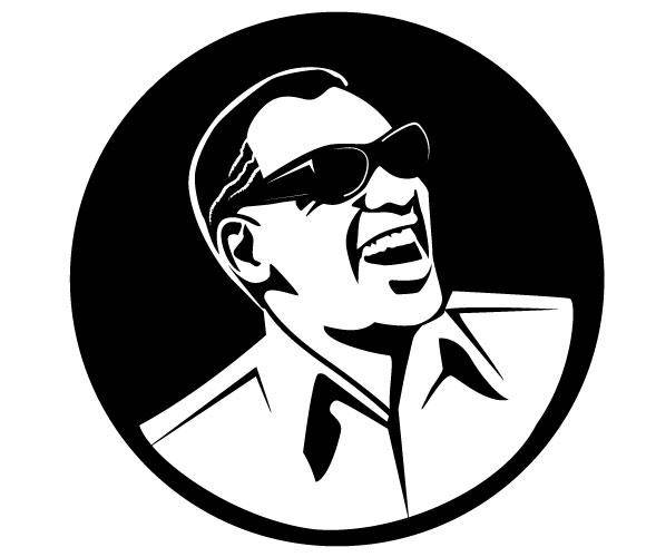 free vector Ray Charles Portrait