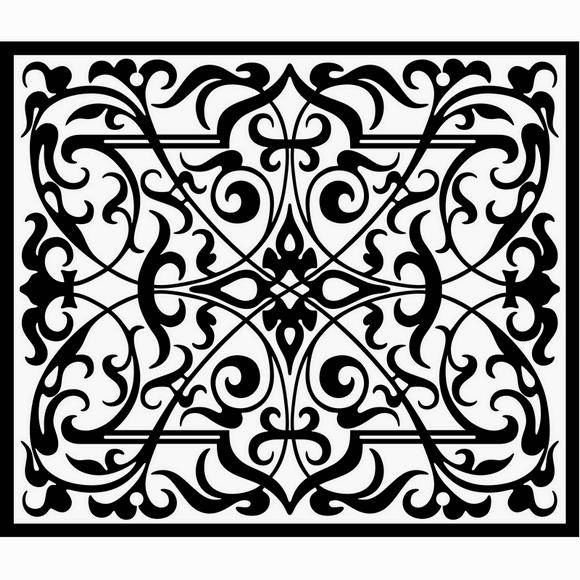 free vector Decorative ornamental panel