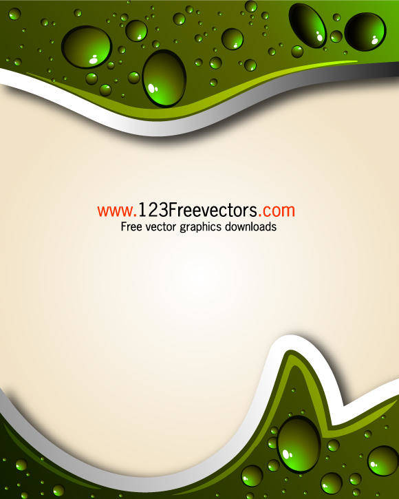 free vector Abstract Background with Water Drops Vector Illustration