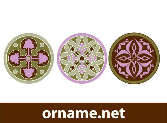 free vector Round Ornaments