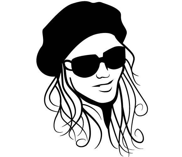 free vector Girl With Hat and Glasses Vector