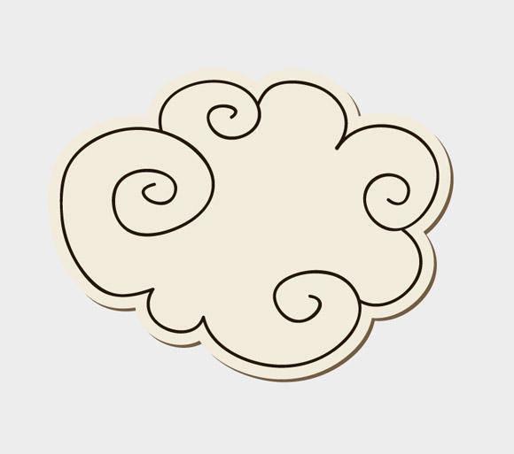 free vector Doodle Cloud
