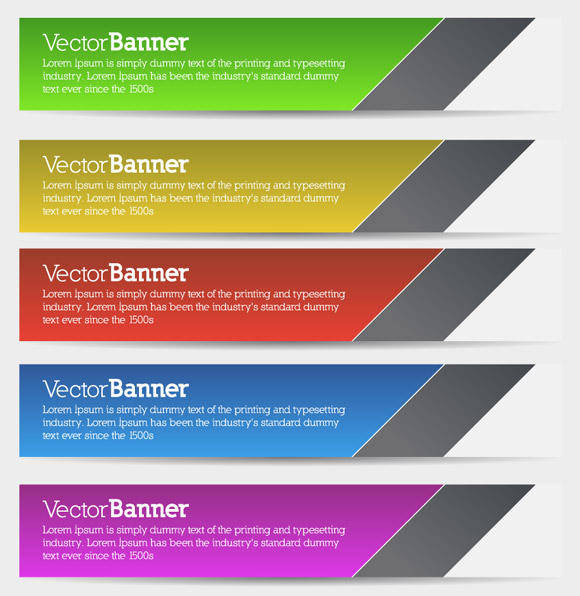 free vector Vector Banners