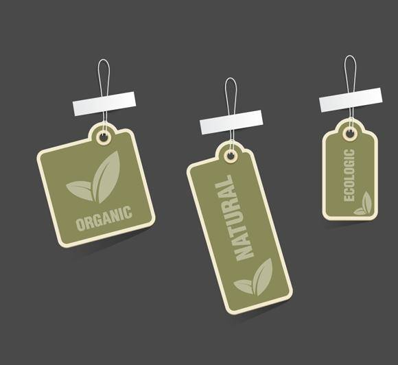 free vector Eco Tags