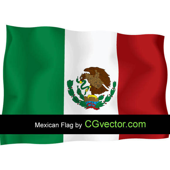 free vector Mexico Independence Day flying flag